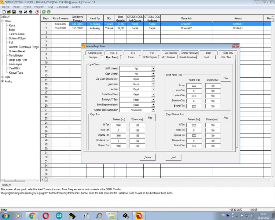 Anytone Programlama Yazılımı Türkçe Dil Dosyası